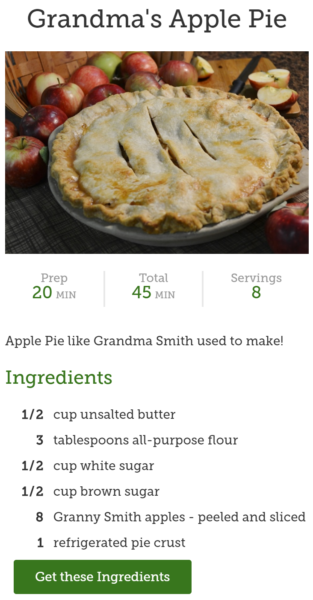 grandma smiths apple pie